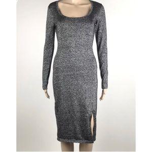 Jennifer Lopez Jlo Sweater Dress Bodycon Metallic